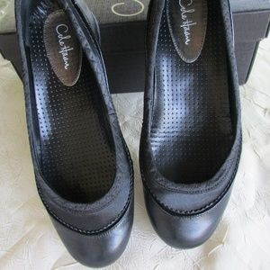Cole Haan BLACK Leather Ballet Shoe 5 1/2 Ladies